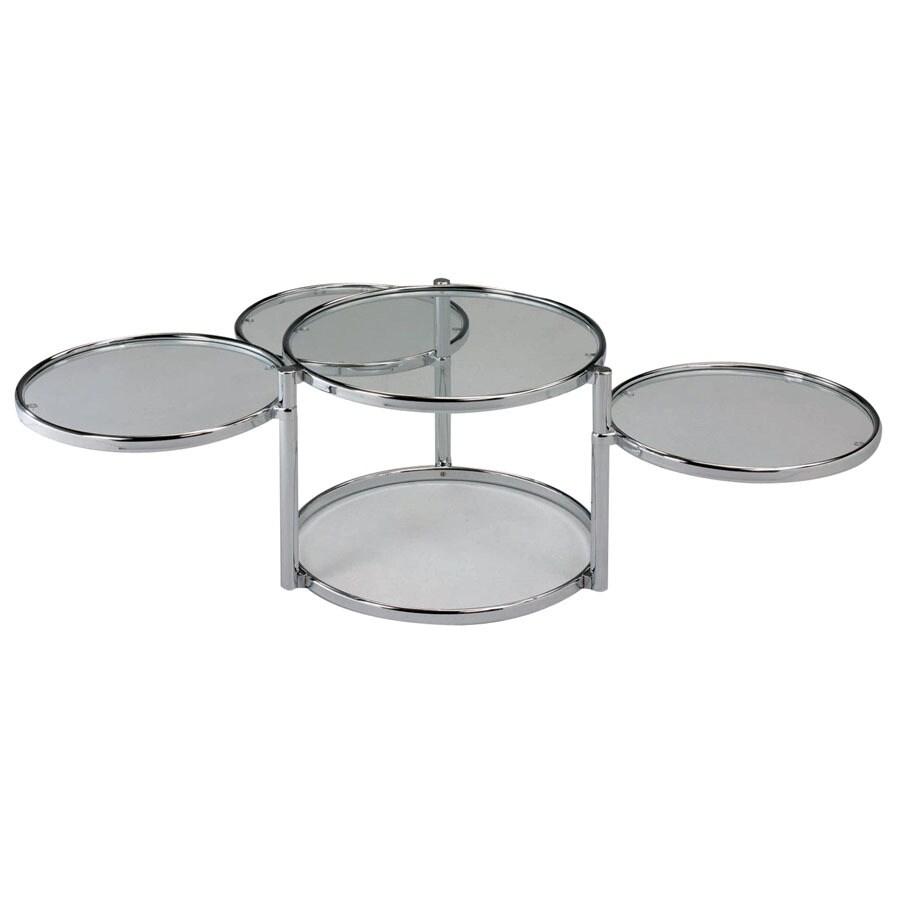 Shop new spec cota chromeclear glass round coffee table at lowes new spec cota chromeclear glass round coffee table geotapseo Images