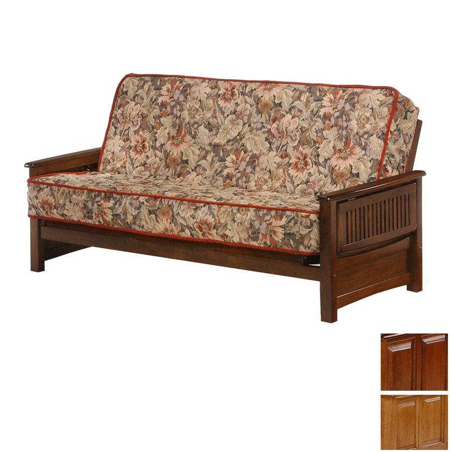 night  u0026 day furniture premium medium oak cherry futon shop night  u0026 day furniture premium medium oak cherry futon at      rh   lowes