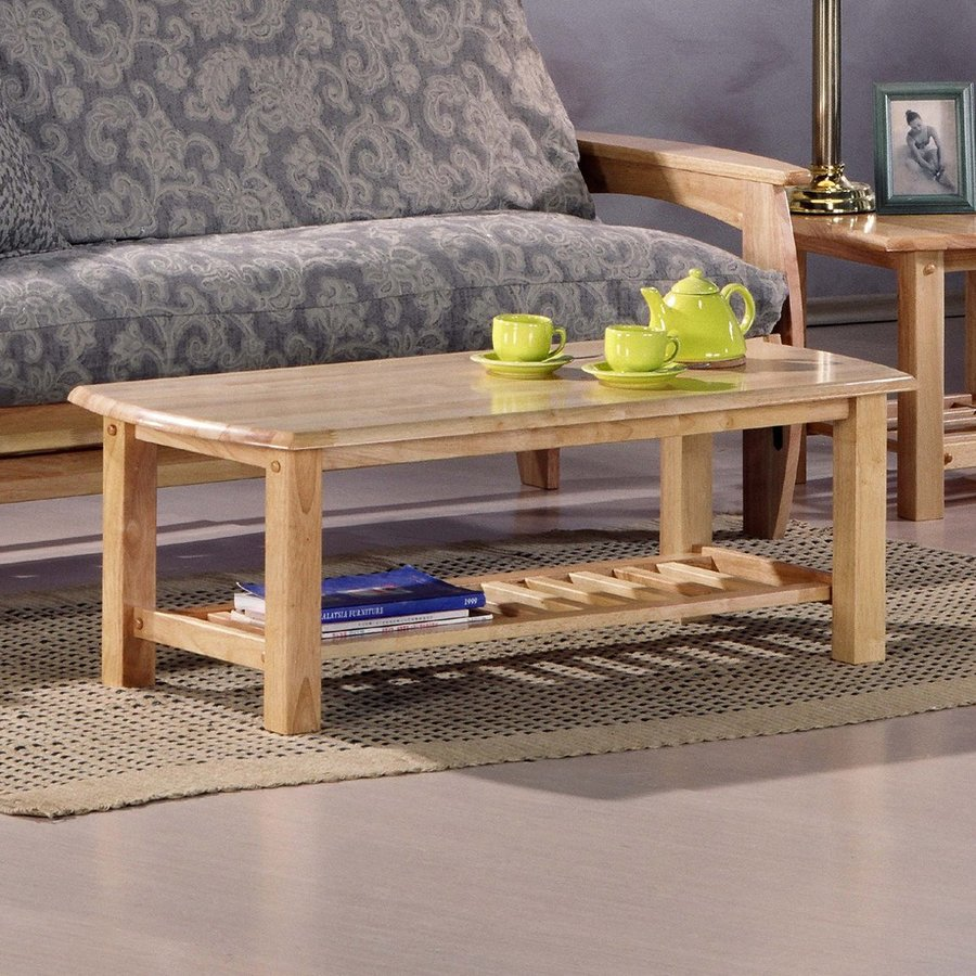 Night & Day Furniture Standard Natural Rubberwood Rectangular Coffee Table