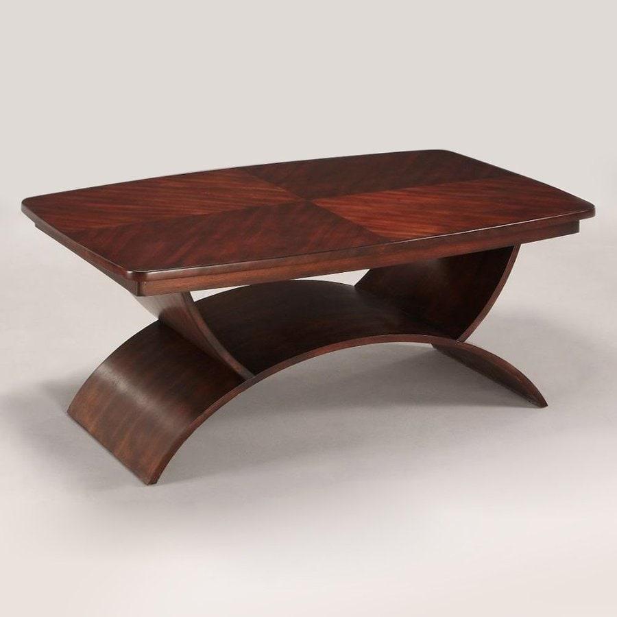 Somerton Home Furnishings Cirque Soft Merlot Rectangular Coffee Table