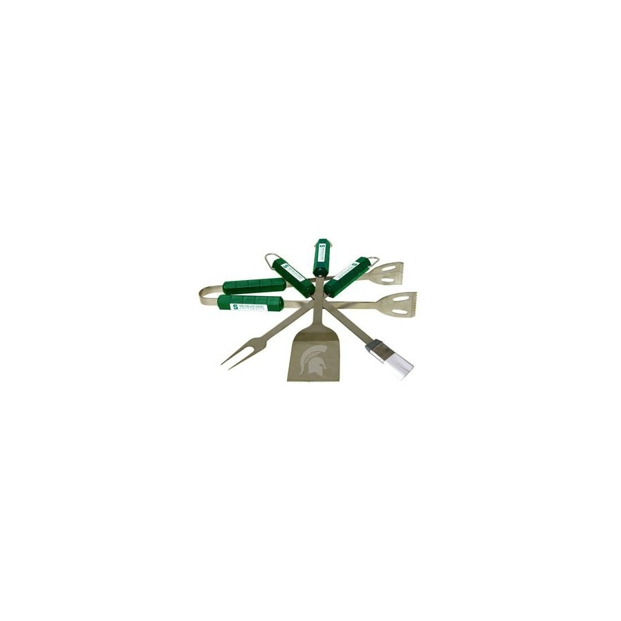 BSI Products 4-Piece Michigan State Spartans BBQ Grilling Tool Set
