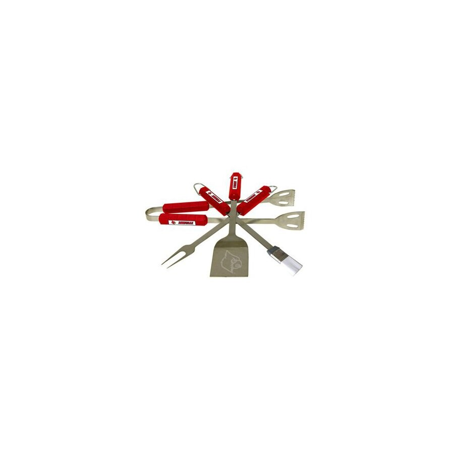 BSI Products 4-Piece Louisville Cardinals BBQ Grilling Tool Set
