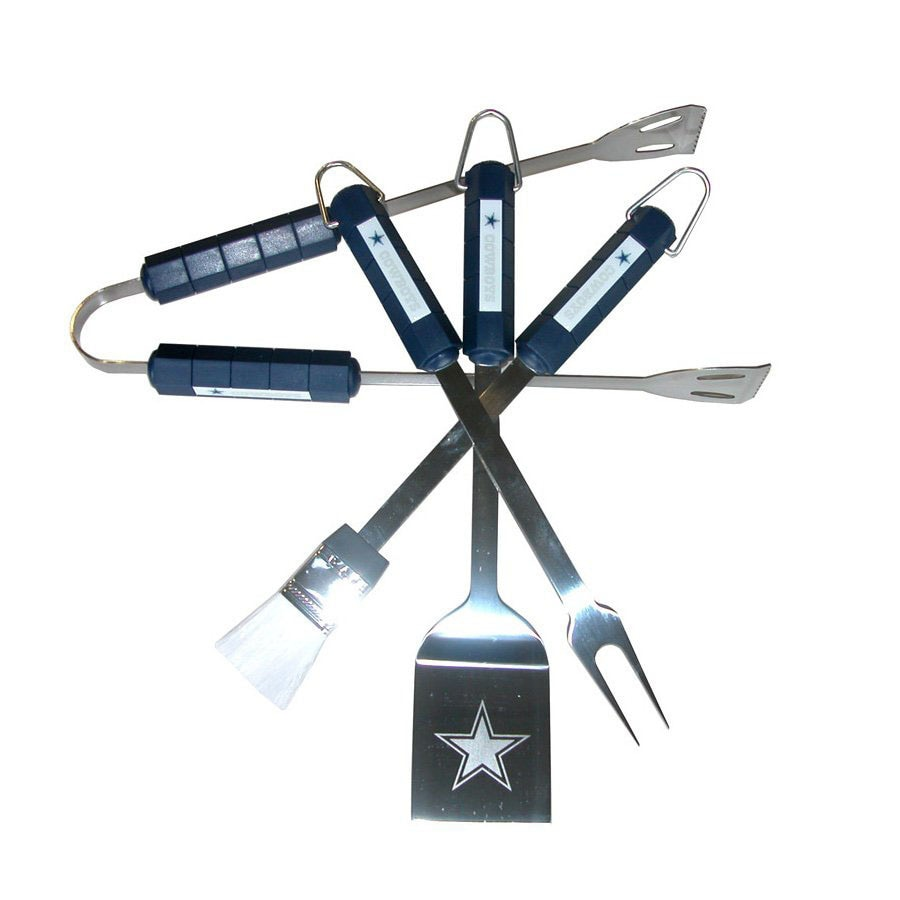 BSI Products 4-Piece Dallas Cowboys BBQ Grilling Tool Set