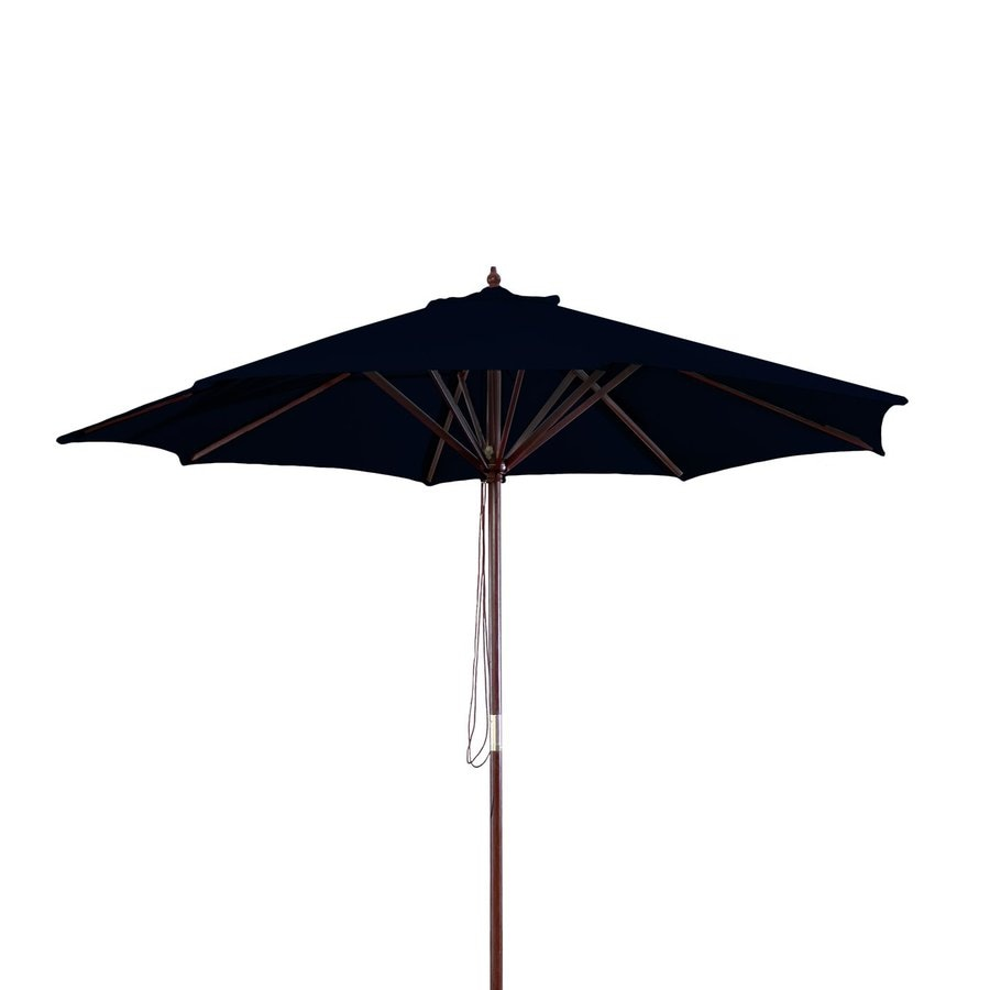 Jordan Manufacturing Black Market Patio Umbrella (Common: 9-ft W x 9-ft L; Actual: 9-ft W x 9-ft L)