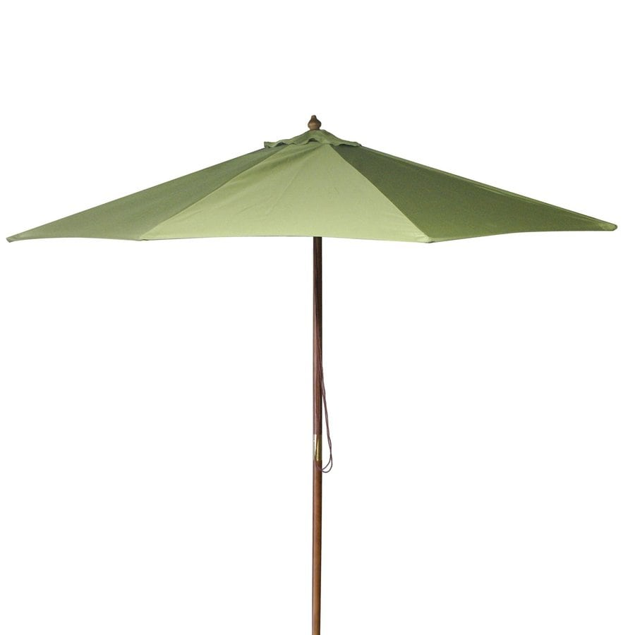 Jordan Manufacturing Olive Market Patio Umbrella (Common: 9-ft W x 9-ft L; Actual: 9-ft W x 9-ft L)