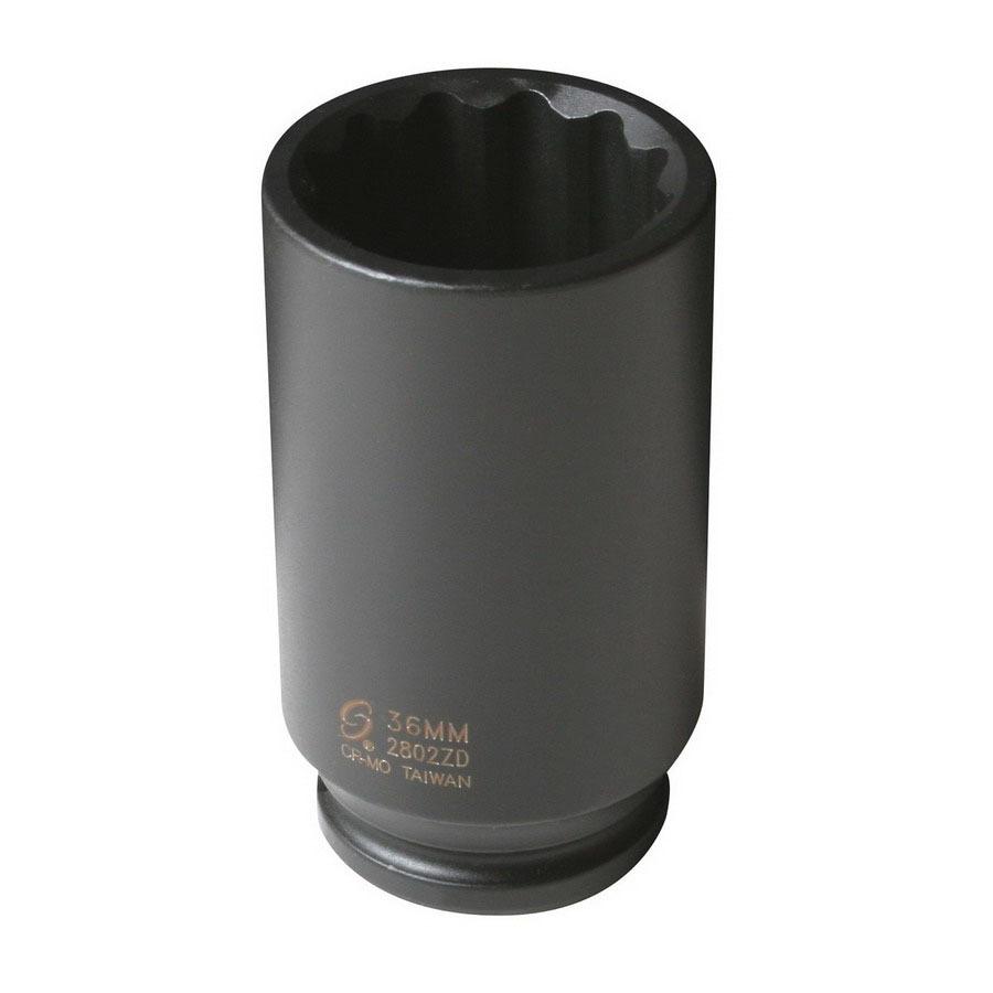 Sunex Tools 1/2-in Drive 36mm Deep 12-Point Metric Impact Socket