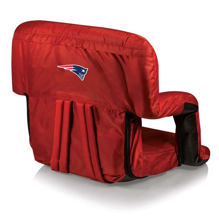 Picnic Time Indoor/Outdoor Steel New England Patriots Bleacher Folding Chair
