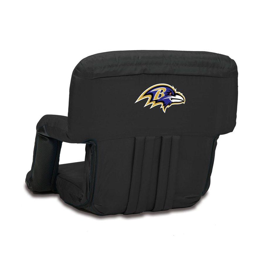 Picnic Time Indoor/Outdoor Steel Black Baltimore Ravens Bleacher Folding  Chair