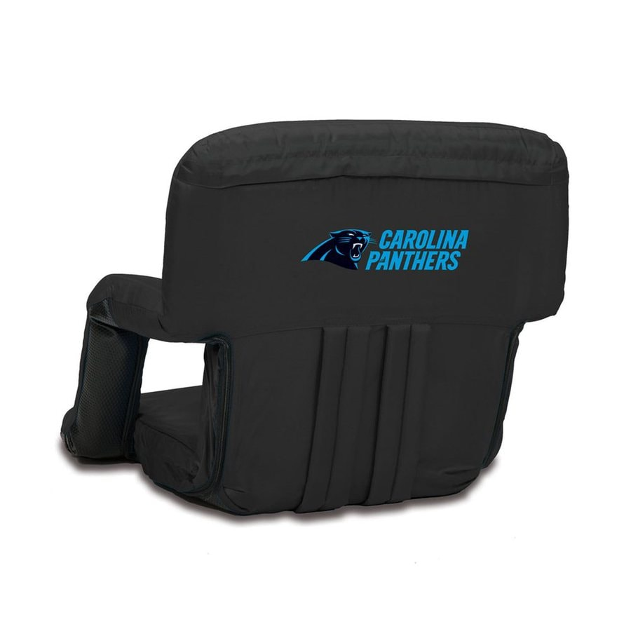 Picnic Time Indoor/Outdoor Steel Black Carolina Panthers Bleacher Folding  Chair
