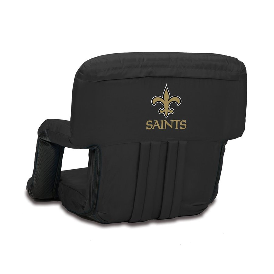 Picnic Time Indoor/Outdoor Steel New Orleans Saints Bleacher Folding Chair