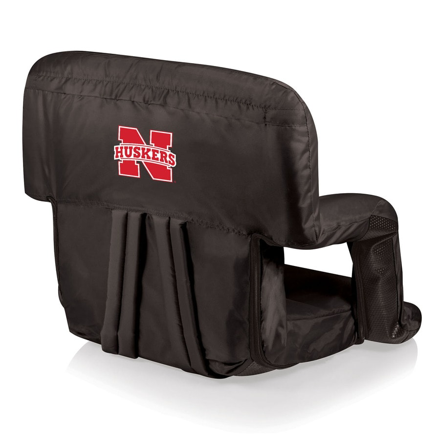 Picnic Time Indoor/Outdoor Steel Nebraska Cornhuskers Bleacher Folding Chair