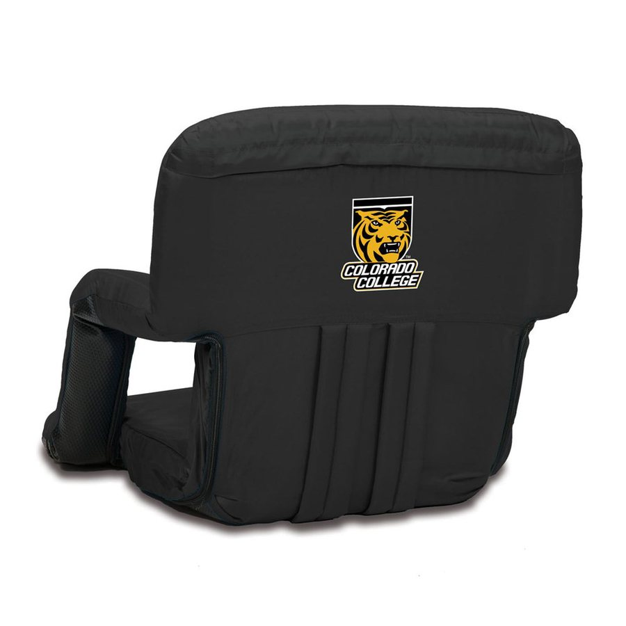Picnic Time Indoor/Outdoor Steel Colorado College Tigers Bleacher Folding Chair