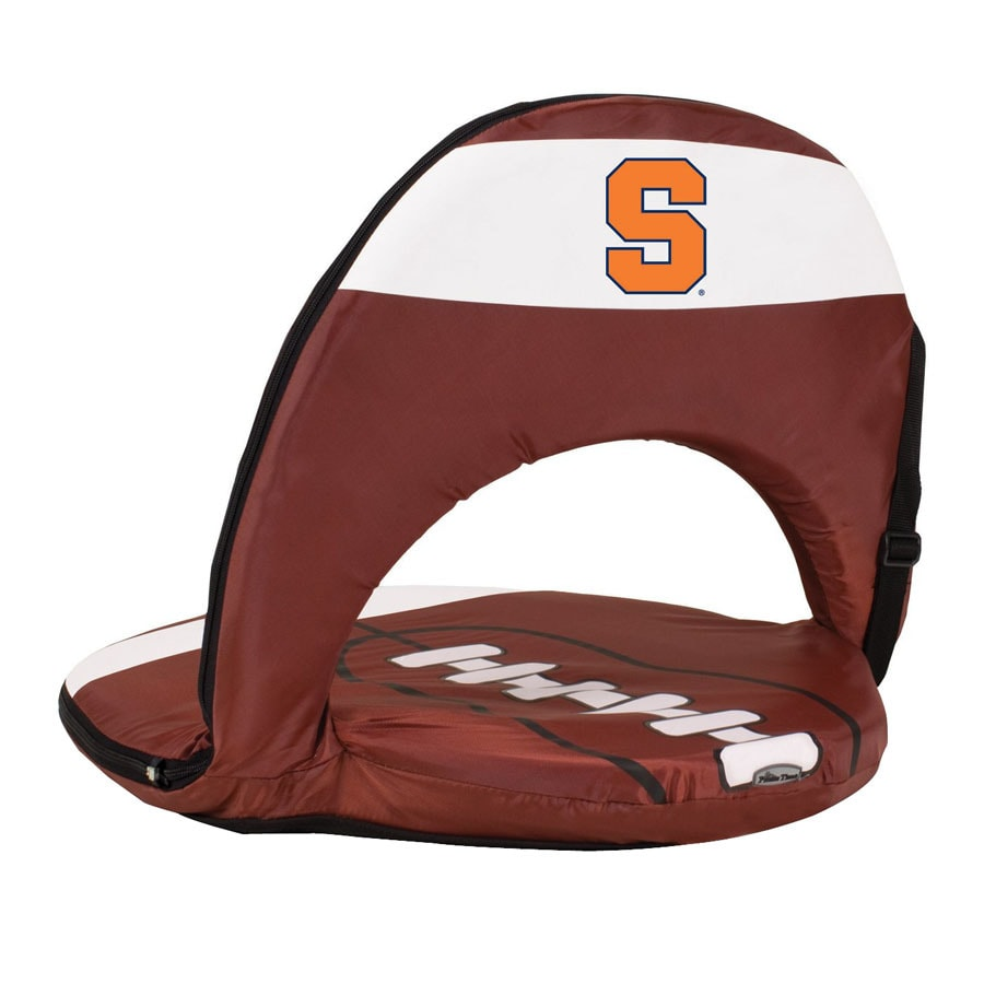 Picnic Time 1 Indoor/Outdoor Upholstered Steel Syracuse Orange Standard Folding Chair