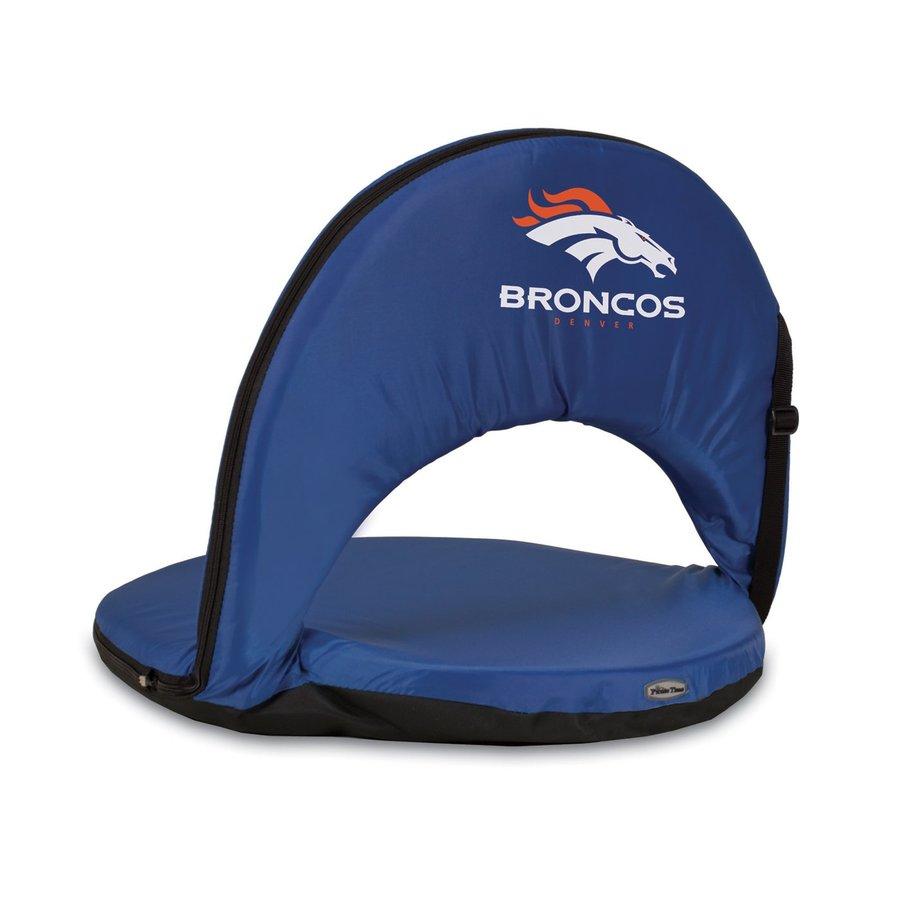 Picnic Time Indoor/Outdoor Steel Denver Broncos Bleacher Folding Chair