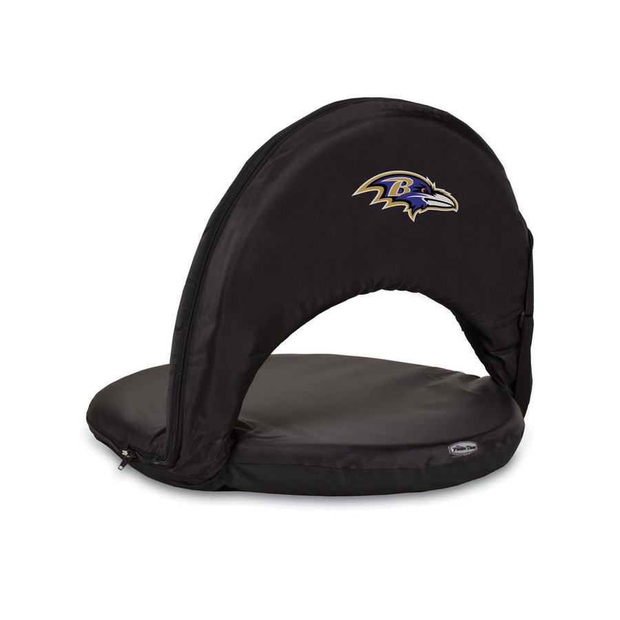 Picnic Time Indoor/Outdoor Steel Baltimore Ravens Bleacher Folding Chair