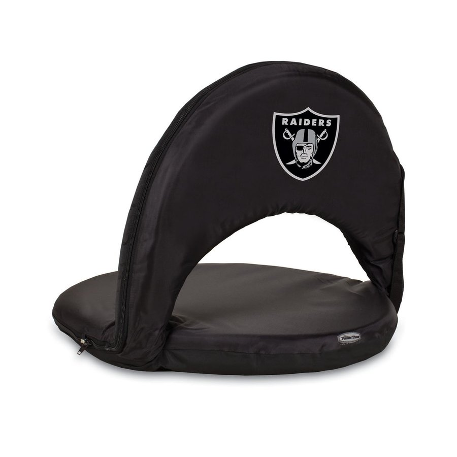 Picnic Time Indoor/Outdoor Steel Oakland Raiders Bleacher Folding Chair