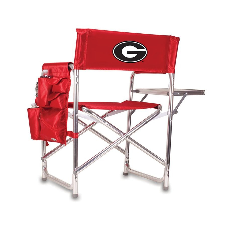 Picnic Time Red NCAA Georgia Bulldogs Aluminum Folding Camping Chair