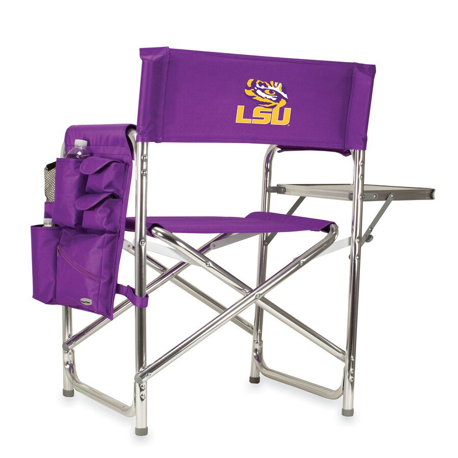 Picnic Time Purple NCAA Louisiana State University Tigers Aluminum Folding Camping Chair