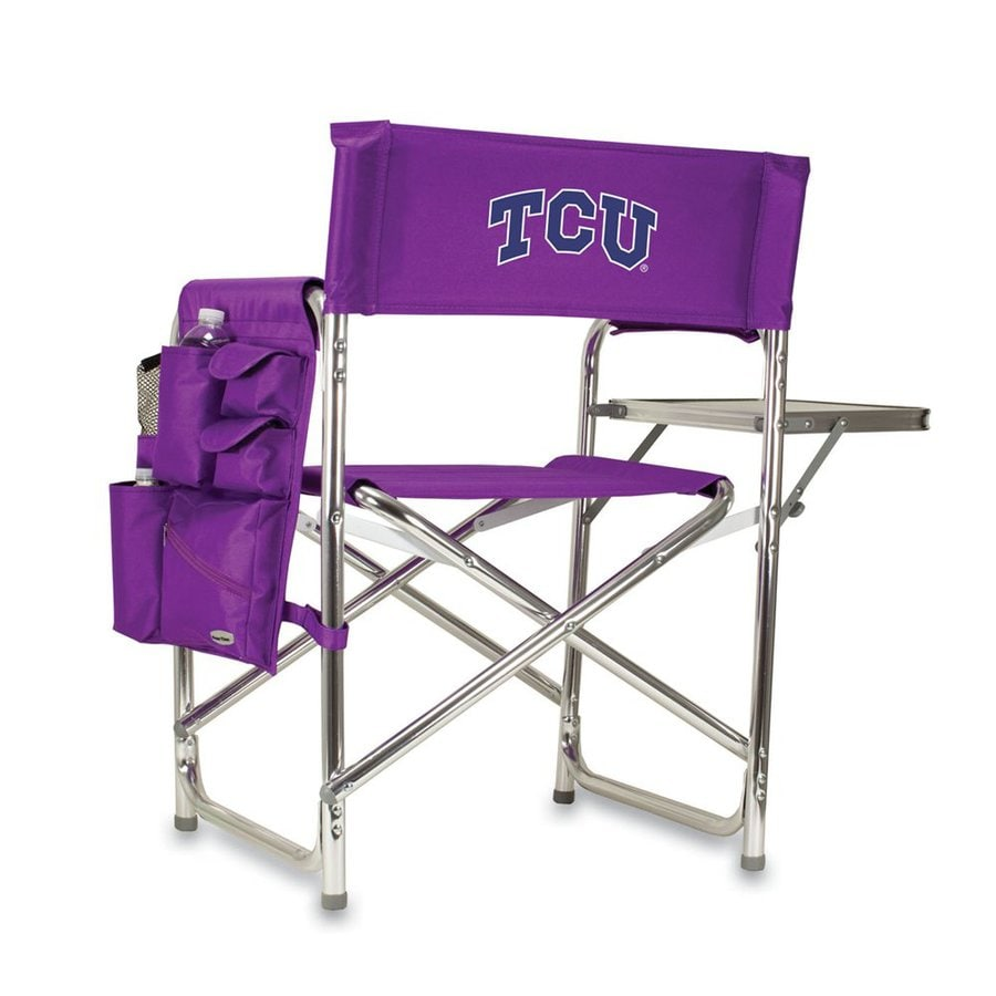 Picnic Time Purple NCAA Texas Christian University Horned Frogs Aluminum Folding Camping Chair