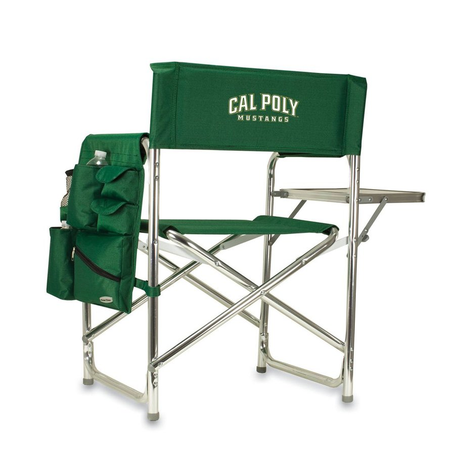 Picnic Time 1 Indoor/Outdoor Aluminum Metallic California Polytechnic State University Mustangs Standard Folding Chair