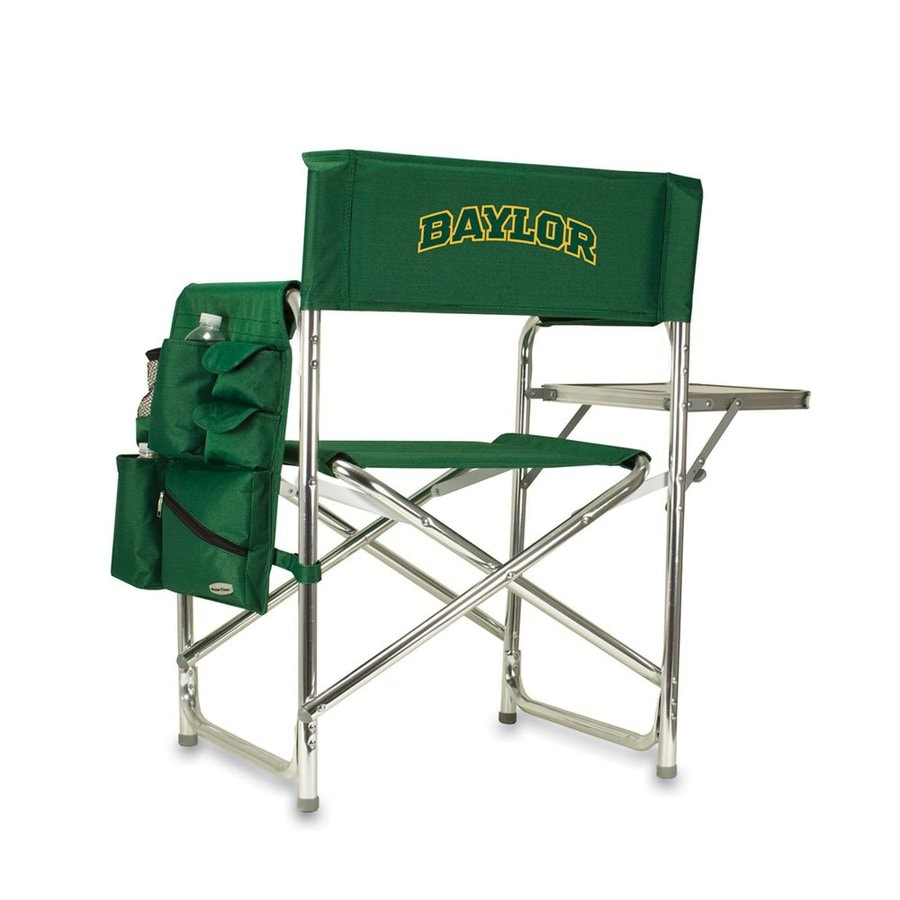 Picnic Time Green NCAA Baylor Bears Aluminum Folding Camping Chair