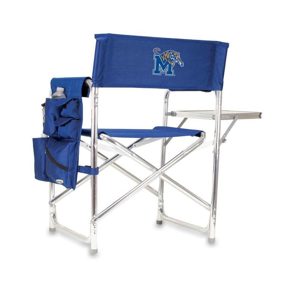 Picnic Time Blue NCAA Memphis Tigers Aluminum Folding Camping Chair