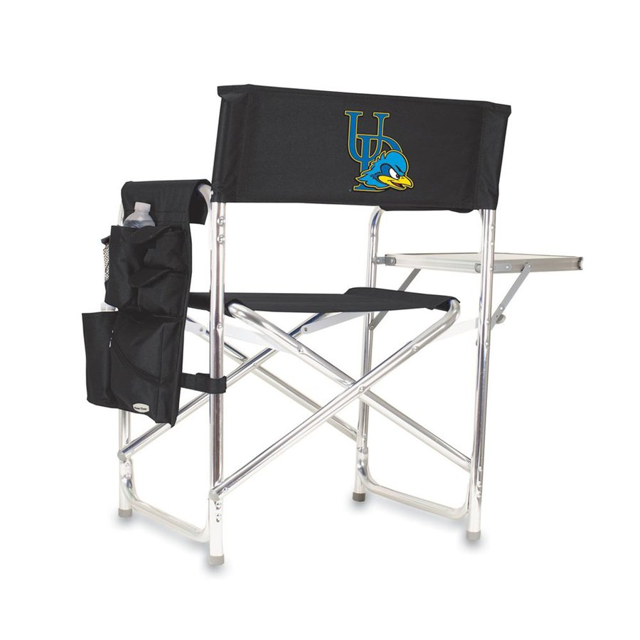Picnic Time Black NCAA Delaware Blue Hens Aluminum Folding Camping Chair