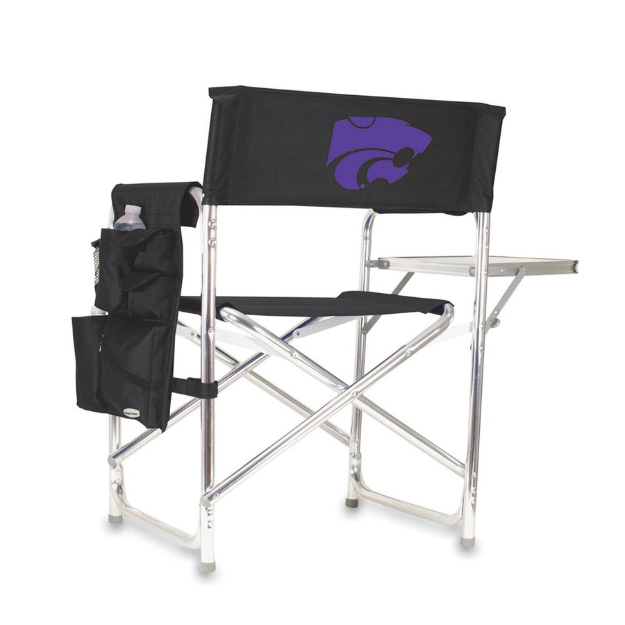 Picnic Time Black NCAA Kansas State Wildcats Aluminum Folding Camping Chair