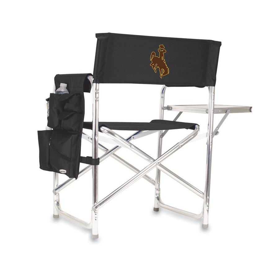 Picnic Time 1 Indoor/Outdoor Aluminum Metallic Wyoming Cowboys Standard Folding Chair