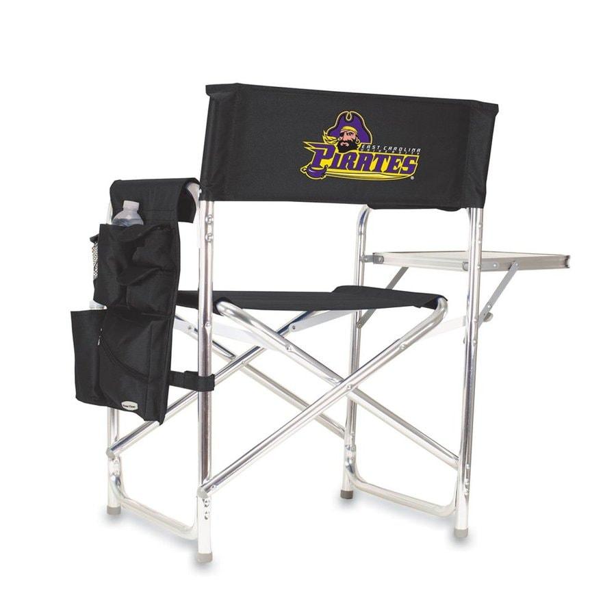 Picnic Time 1 Indoor/Outdoor Aluminum Metallic East Carolina Pirates Standard Folding Chair