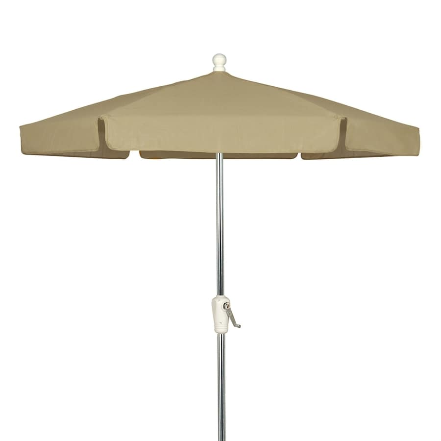 Fiberbuilt Home Beige Market Patio Umbrella (Common: 7.5-ft W x 7.5-ft L; Actual: 7.5-ft W x 7.5-ft L)