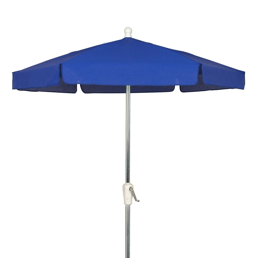 Fiberbuilt Home Pacific Blue Market Patio Umbrella (Common: 7.5-ft W x 7.5-ft L; Actual: 7.5-ft W x 7.5-ft L)