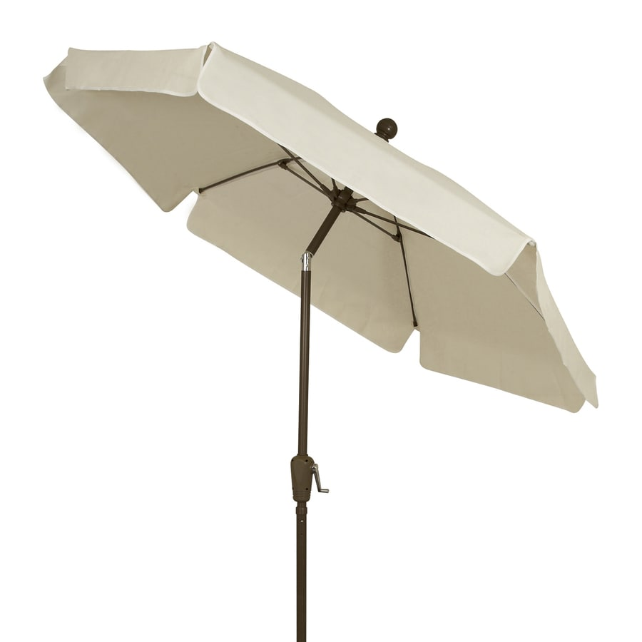 Fiberbuilt Home Natural Market Patio Umbrella (Common: 7.5-ft W x 7.5-ft L; Actual: 7.5-ft W x 7.5-ft L)