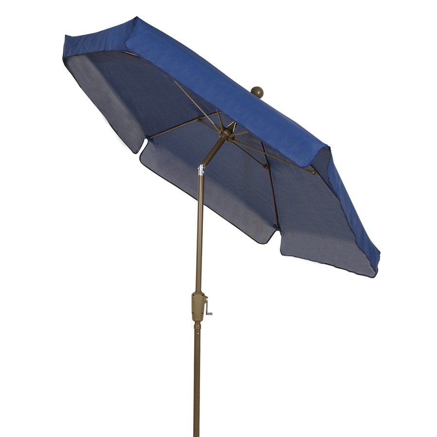 shop fiberbuilt home navy blue market patio umbrella