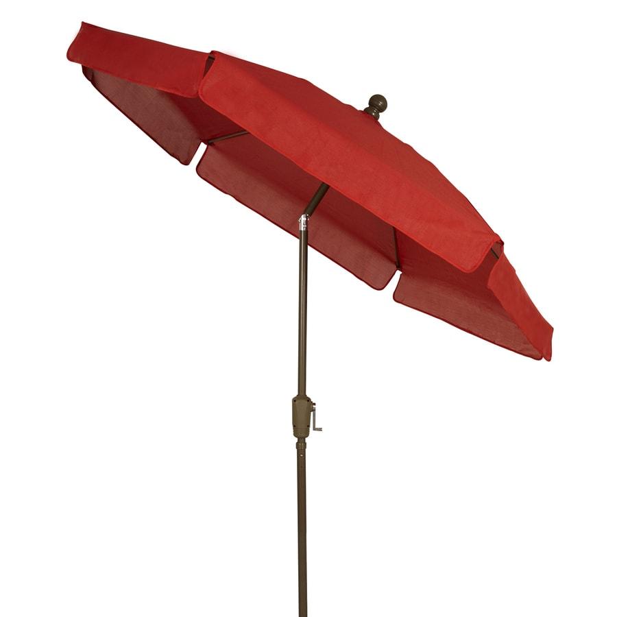 Umbrella Stand Homebase: Fiberbuilt Red Market 7.5-ft Hexagon Patio Umbrella With