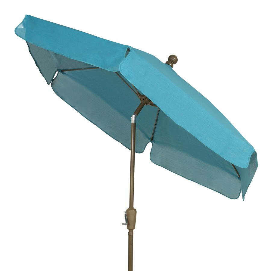 Fiberbuilt Home Teal Market Patio Umbrella (Common: 7.5-ft W x 7.5-ft L; Actual: 7.5-ft W x 7.5-ft L)