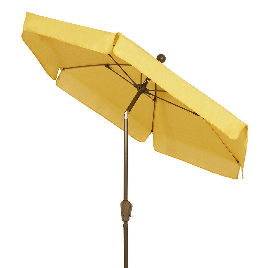 Fiberbuilt Home Yellow Market Patio Umbrella (Common: 7.5-ft W x 7.5-ft L; Actual: 7.5-ft W x 7.5-ft L)