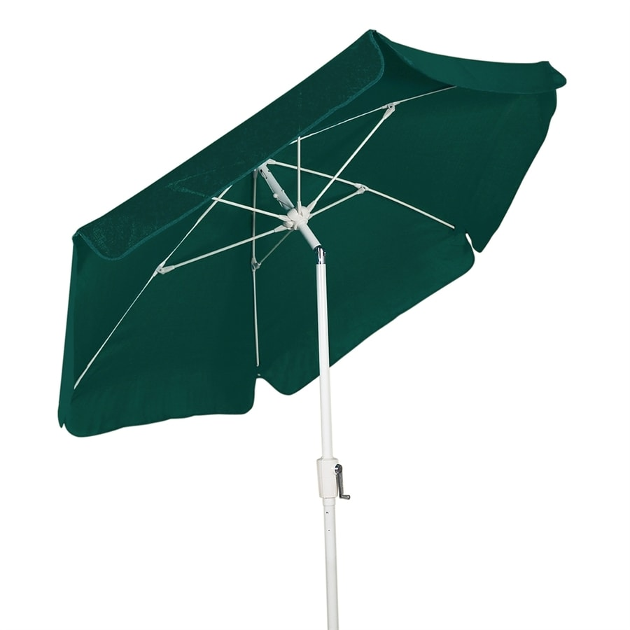Fiberbuilt Home Forest Green Market Patio Umbrella (Common: 7.5-ft W x 7.5-ft L; Actual: 7.5-ft W x 7.5-ft L)