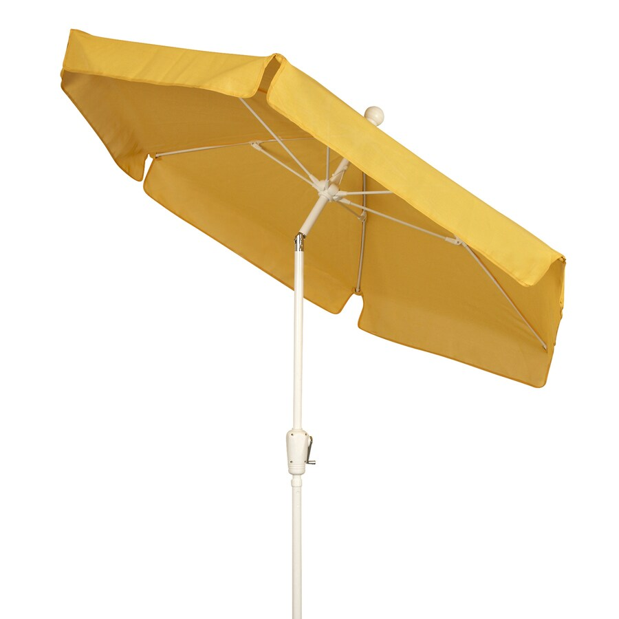 shop fiberbuilt home yellow market patio umbrella common