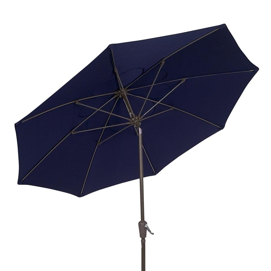 Fiberbuilt Home Navy Blue Market Patio Umbrella (Common: 7.5-ft W x 7.5-ft L; Actual: 7.5-ft W x 7.5-ft L)