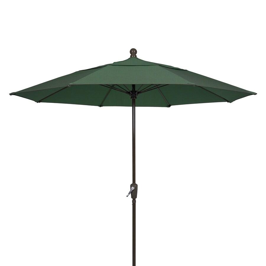 Fiberbuilt Home Forest Green Market Patio Umbrella (Common: 9-ft W x 9-ft L; Actual: 9-ft W x 9-ft L)