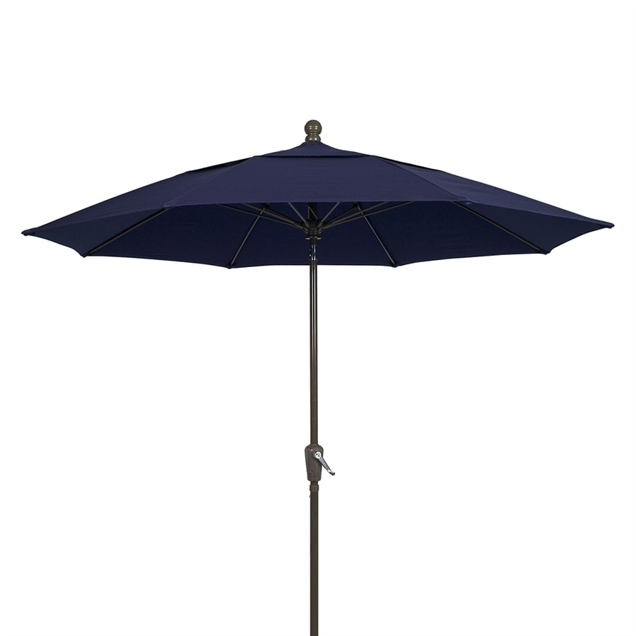 Fiberbuilt Home Navy Blue Market Patio Umbrella (Common: 9-ft W x 9-ft L; Actual: 9-ft W x 9-ft L)