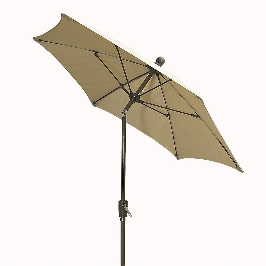 Fiberbuilt Home Beige Market 9-ft Patio Umbrella