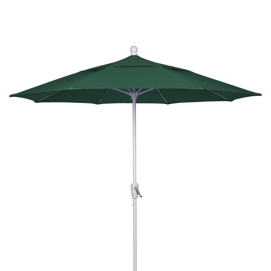 Fiberbuilt Home Forest Green Market Patio Umbrella (Common: 9-ft W x 9-ft L; Actual: 9-ft W x 9-ft L)