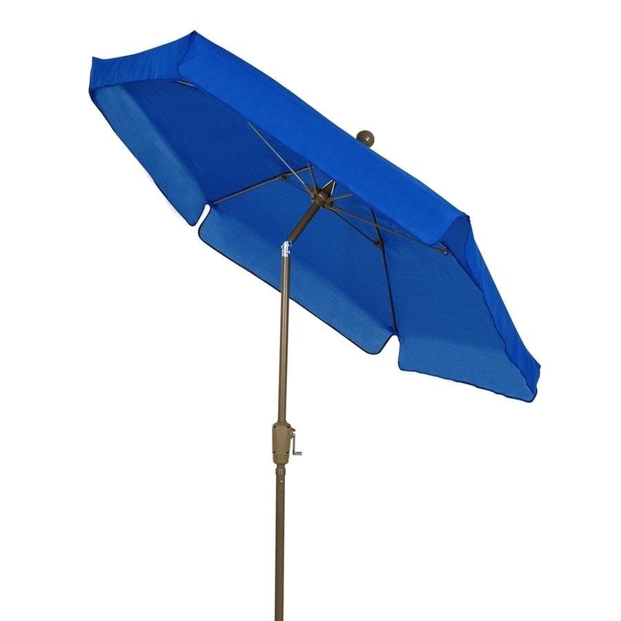 Umbrella Stand Homebase: Fiberbuilt Pacific Blue Market 7.5-ft Push-button Tilt