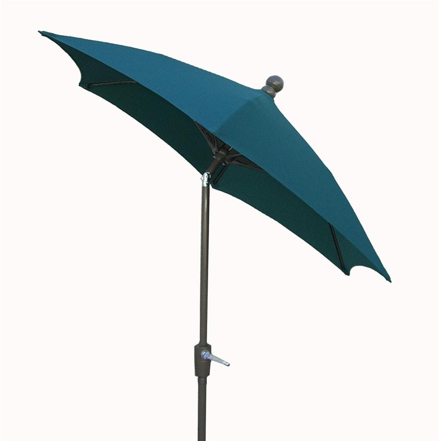 Fiberbuilt Home Forest Green Market Patio Umbrella (Common: 7.5-ft W x 7.5-ft L; Actual: 7.5-ft W x 7.5-ft L)