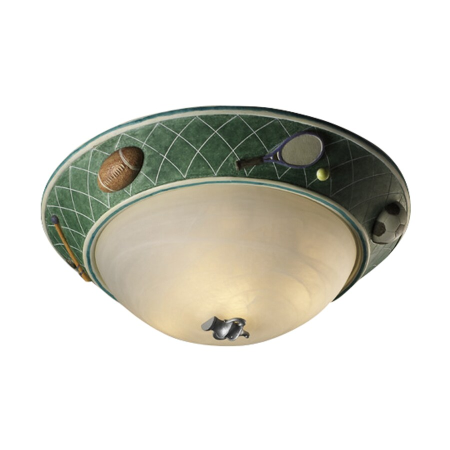 Cascadia Lighting Sports 17-in W Multicolor Kids Standard Ceiling Flush Mount