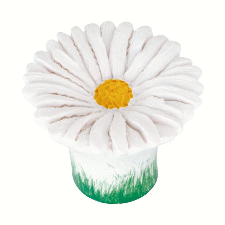 Siro Designs Flowers White Daisy Novelty Cabinet Knob