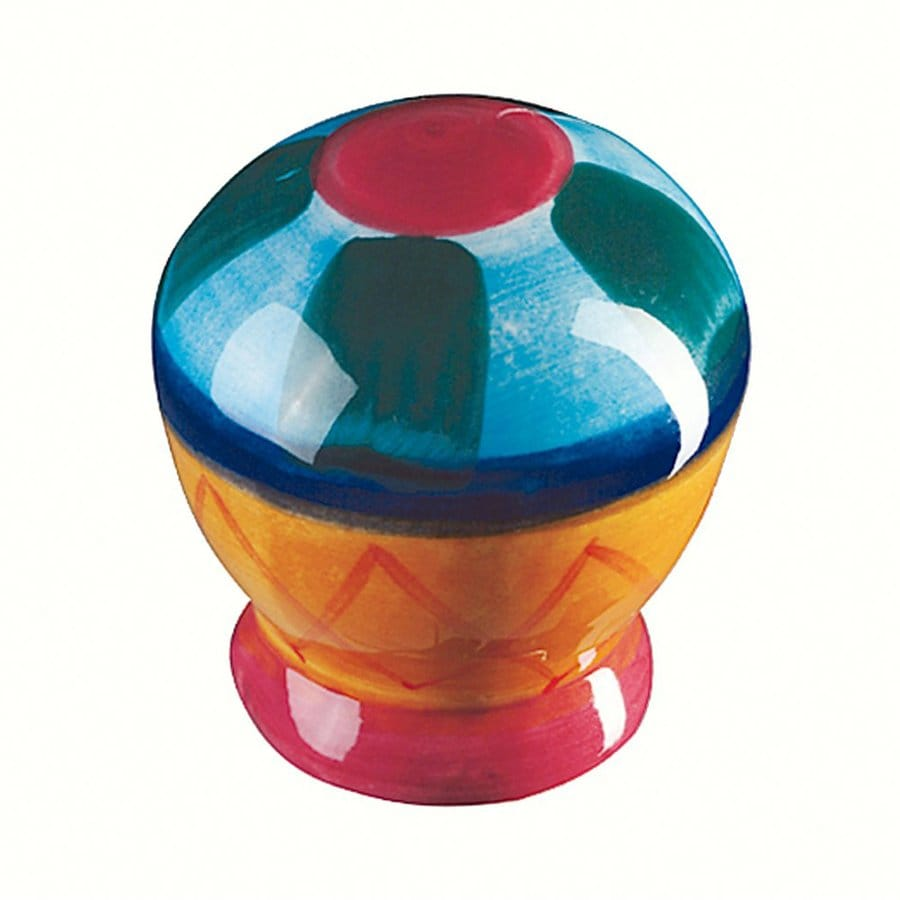 Siro Designs Botanico Pink/Blue/Green Stripes Round Cabinet Knob
