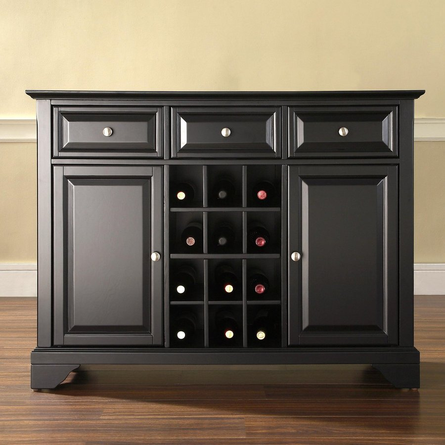 Superior Crosley Furniture Lafayette Black Sideboard With Wine Storage